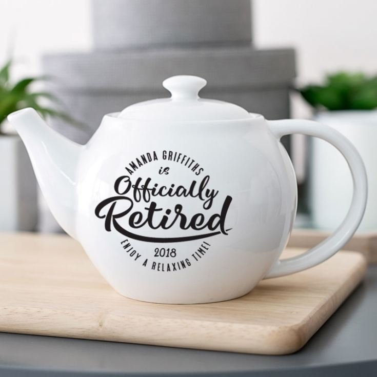 Personalised Officially Retired Teapot product image