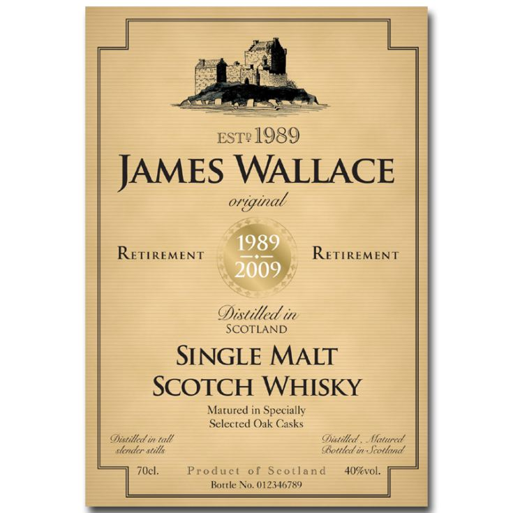 Personalised Retirement Malt Whisky product image