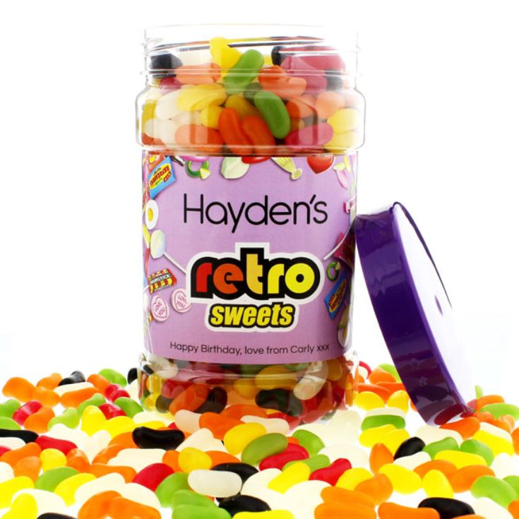 Personalised Jelly Beans Sweet Jar product image