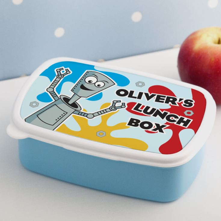 Personalised Robot Splat Design Lunch Box product image