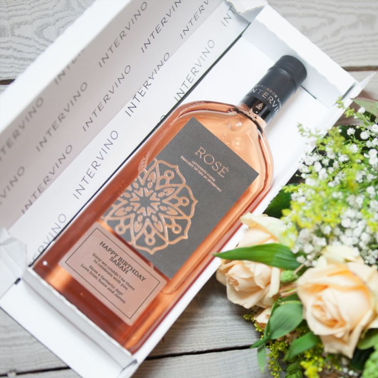 Personalised Letterbox Rose Wine product image