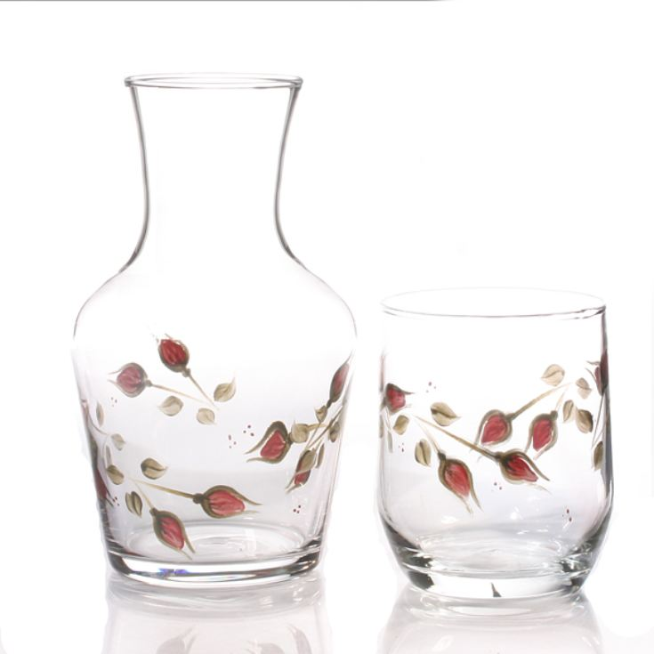 Hand Painted Carafe Set - Rosebud product image