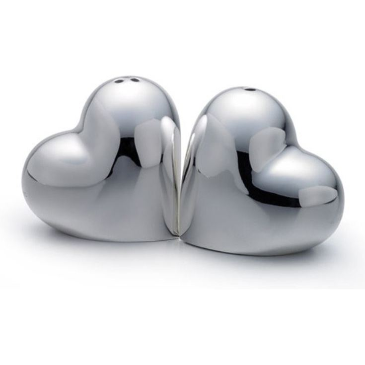 Personalised Heart Shaped Salt & Pepper Pots product image