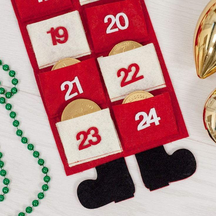Personalised Embroidered Santa Advent Calendar product image