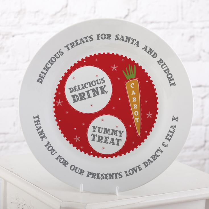 Personalised Treats For Santa Christmas Plate product image