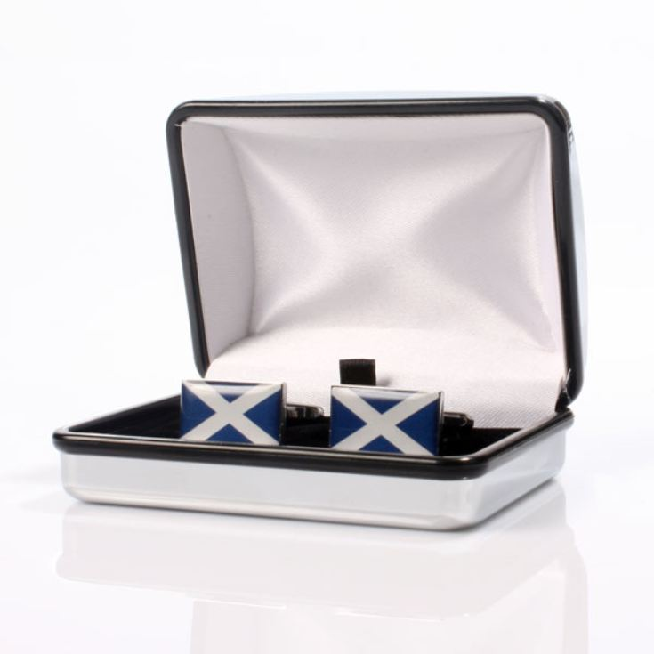 Personalised Scottish Flag Cufflinks product image