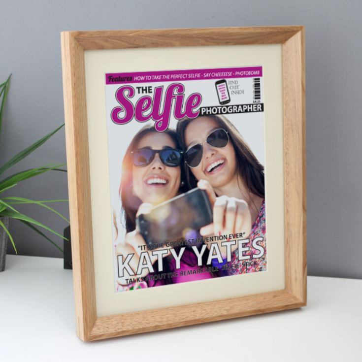 Personalised Selfie Photography Magazine Framed Print product image
