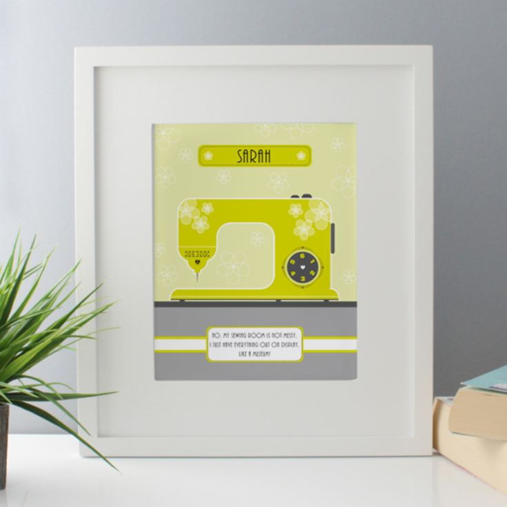 Personalised Sewing Machine Framed Print product image