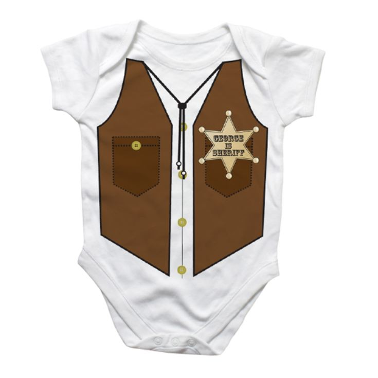 Personalised Sheriff Baby Grow product image