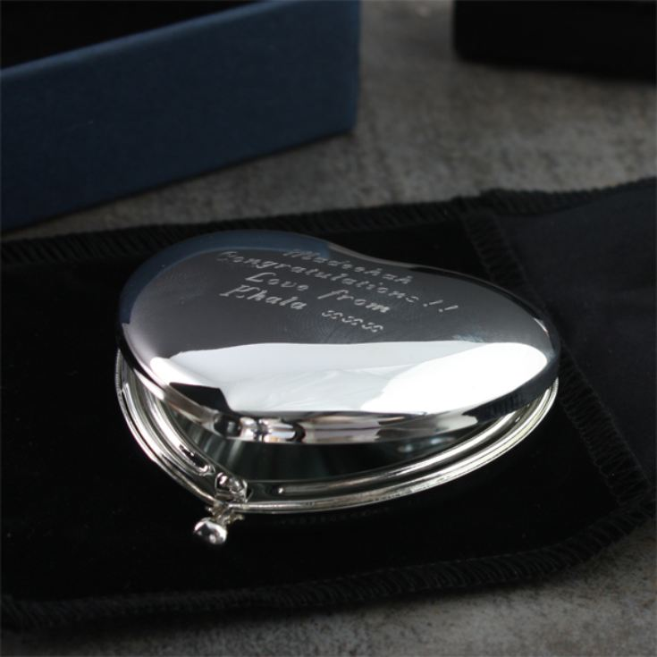 Shiny Silver Heart Handbag Mirror product image