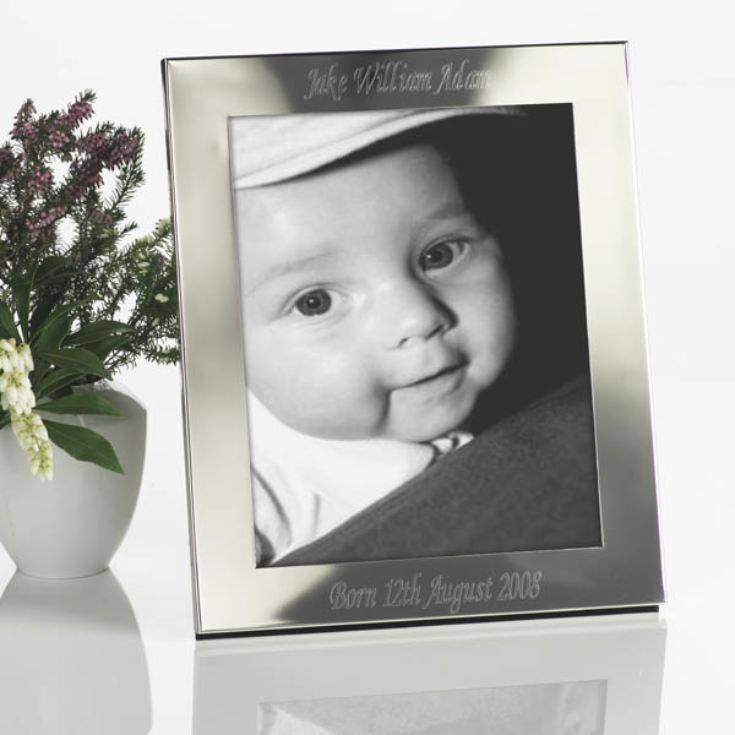 Engraved Silver Photo Frame product image