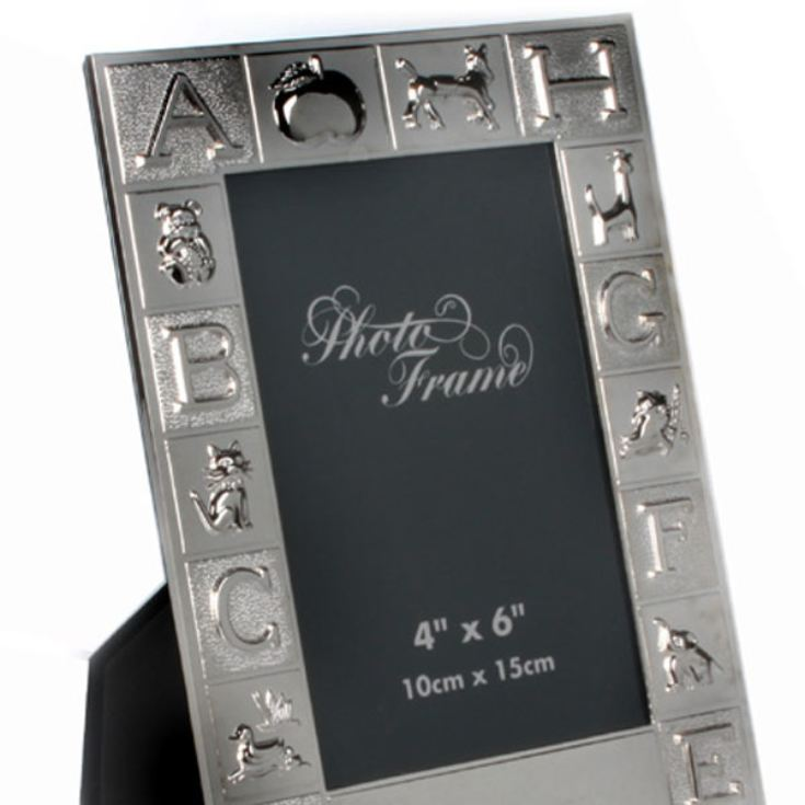 Personalised Silver Plated ABC Photo Frame product image