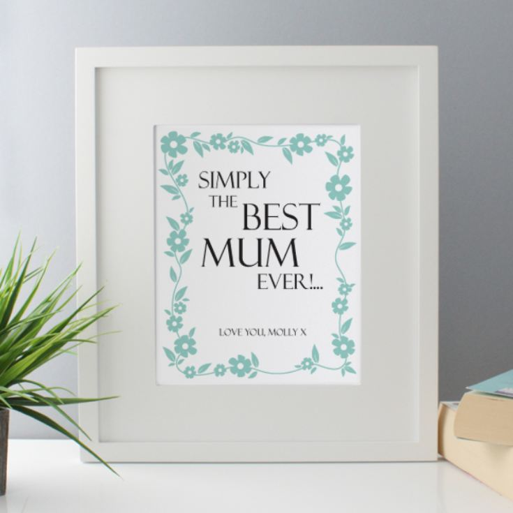 Personalised Simply The Best Mum Framed Print product image