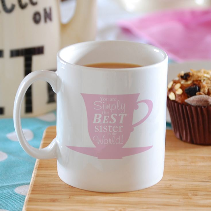 Simply the Best Tea Cup Design Personalised Mug product image