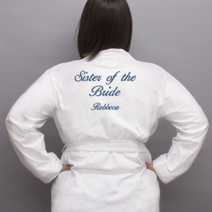 Personalised Embroidered Sister Of The Bride Dressing Gown product image