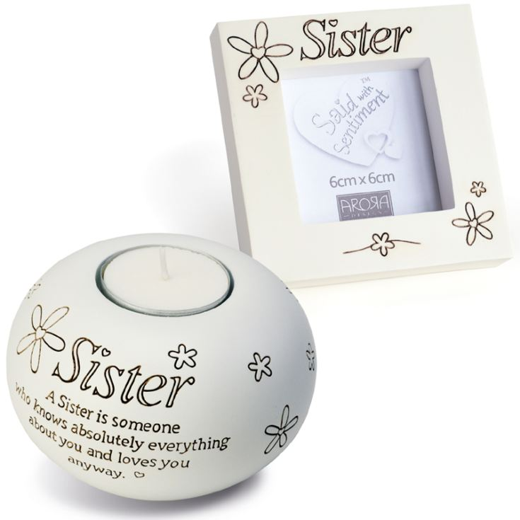 Sister Tealight And Photo Frame Gift Set product image