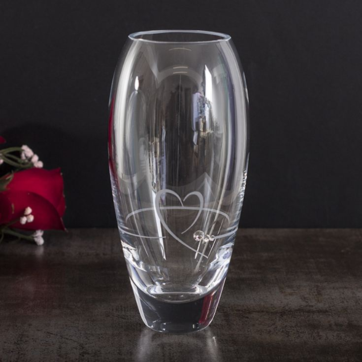 Personalised Heart And Diamante Petit Bud Vase product image