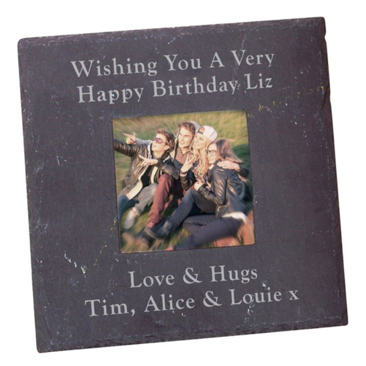 Personalised Slate Square Photo Frame product image