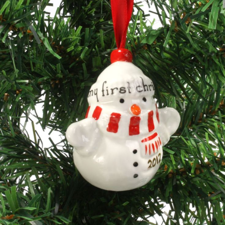 My First Christmas Snowman Decoration product image