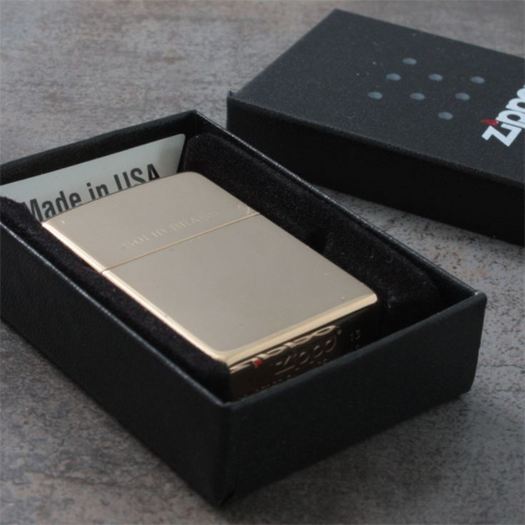 Personalised Solid Brass Zippo Lighter product image
