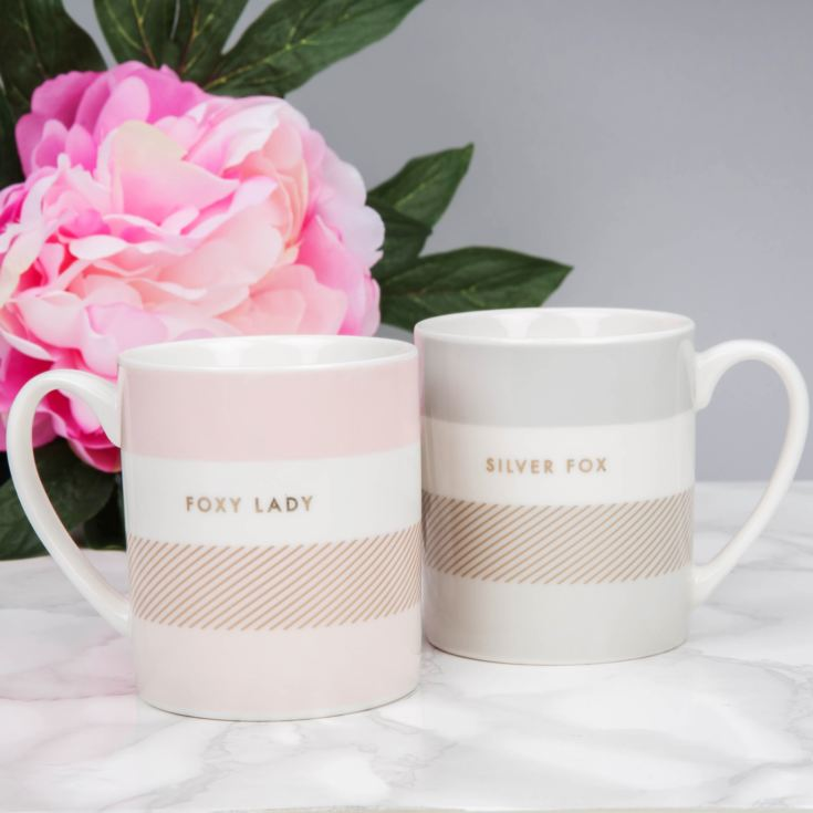 Double Mug Set - Foxy Lady And Silver Fox product image