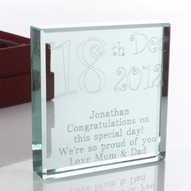 Personalised Special Date Glass Keepsake product image