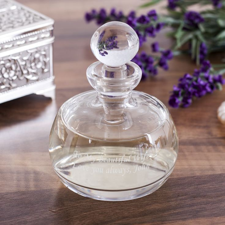 Personalised Lead Crystal Perfume Bottle And Stopper product image