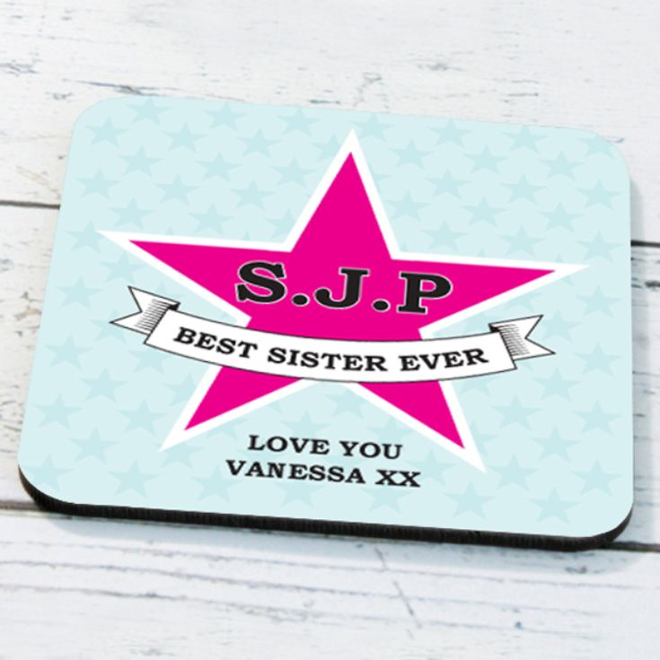 Personalised Star Design Coaster product image