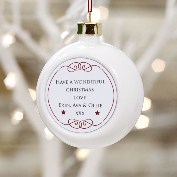 Personalised Step Dad Christmas Bauble product image