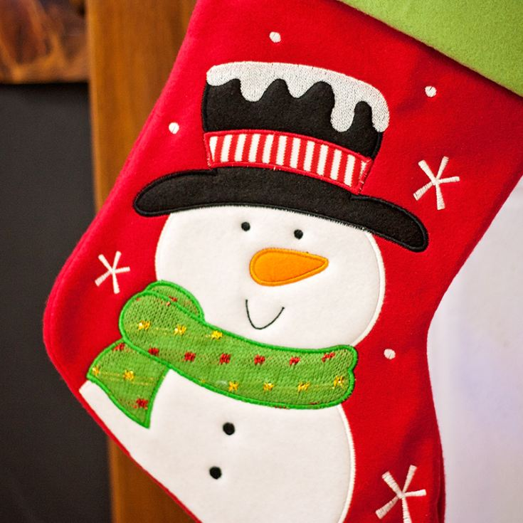 Personalised Luxury Snowman Stocking product image