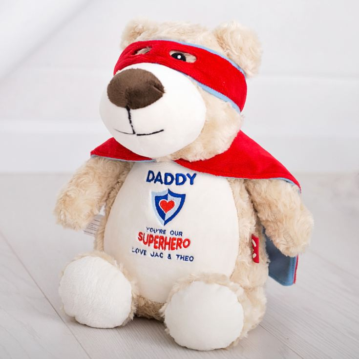 Daddy Super Hero Bear - Embroidered Cubbies Soft Toy product image