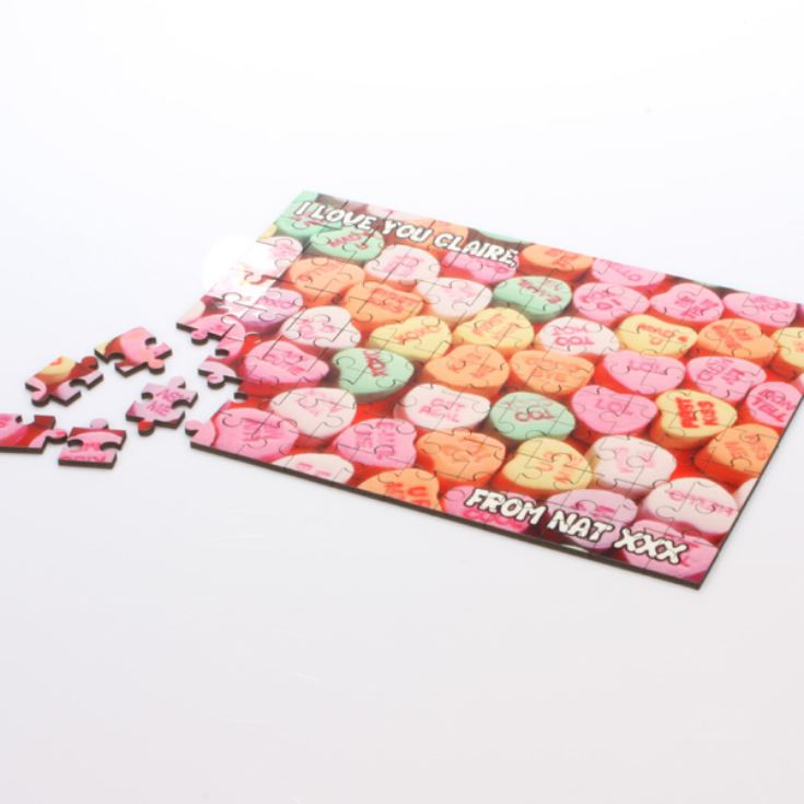Sweet Heart Message On A Jigsaw product image