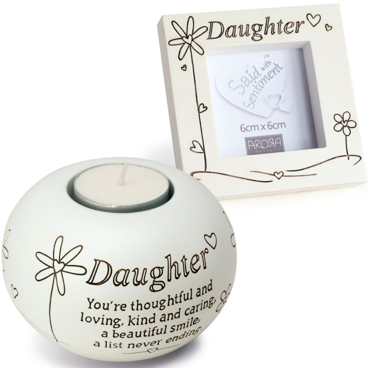 Daughter Tealight And Photo Frame Gift Set product image