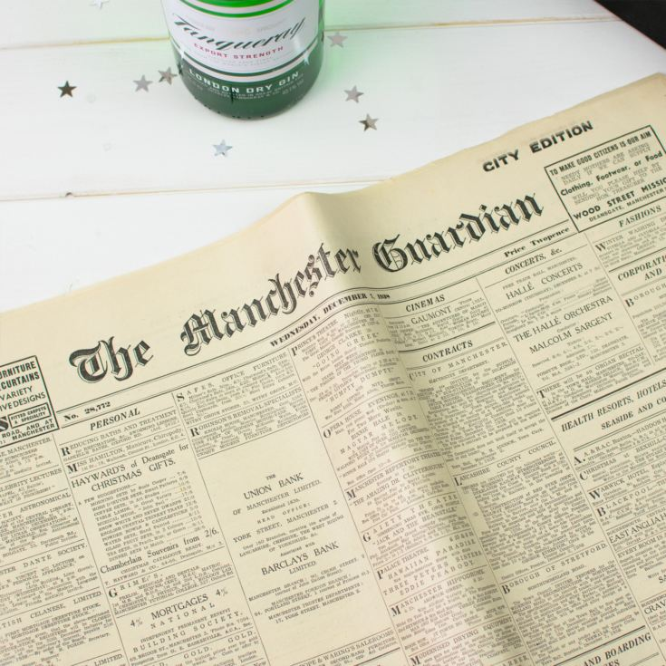 Tanqueray Gin and Original Newspaper product image