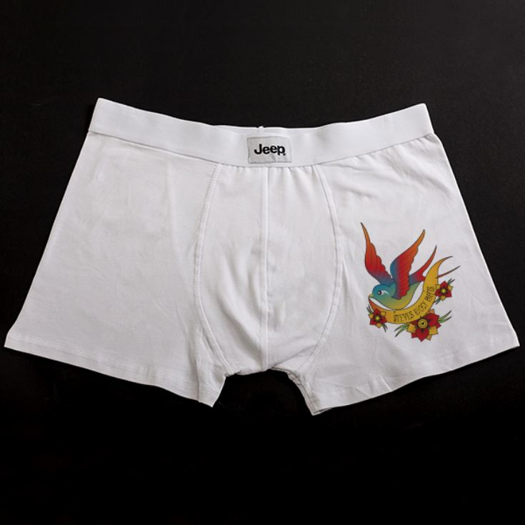 Personalised Tattoo Style Lucky Pants Boxer Shorts product image