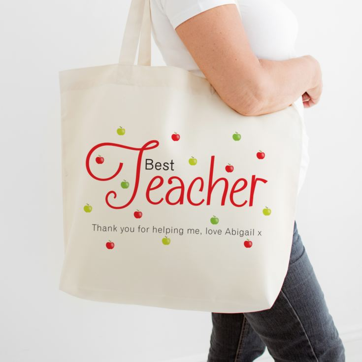Personalised Best Teacher Tote Bag product image
