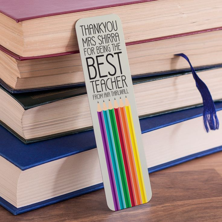 Personalised Best Teacher Pencil Bookmark product image