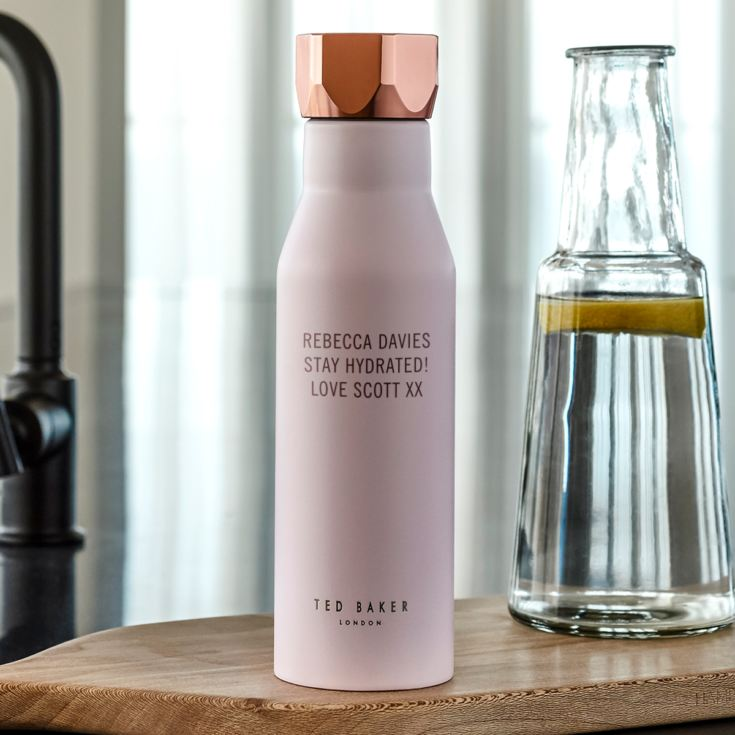 9da38ac04655 Personalised Ted Baker Pink Water Bottle