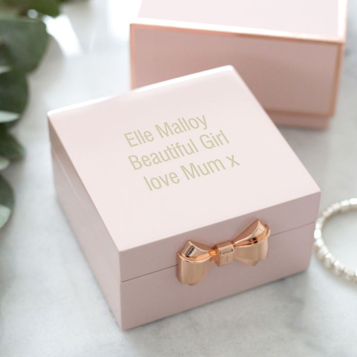 Ted Baker Personalised Pink Jewellery Box