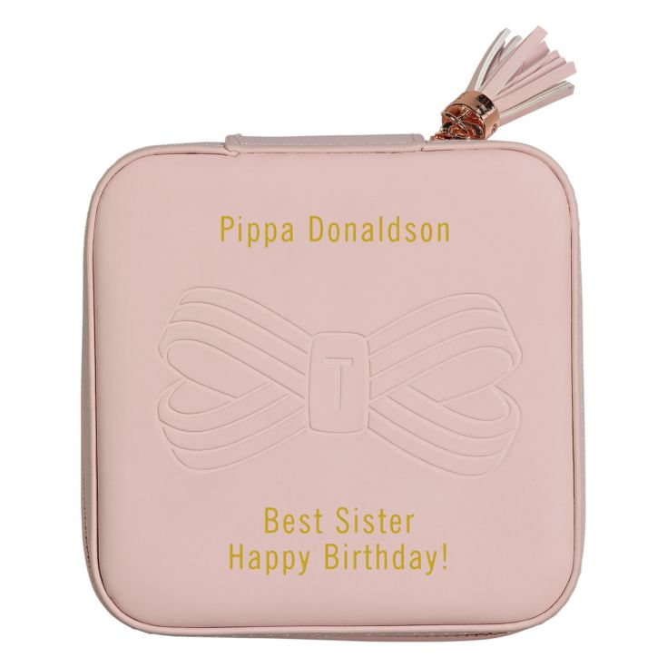 Personalised Ted Baker Pink Travel Jewellery Case product image