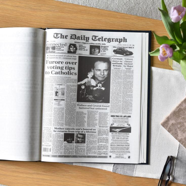 50th Birthday Edition Personalised Telegraph Newspaper Book product image
