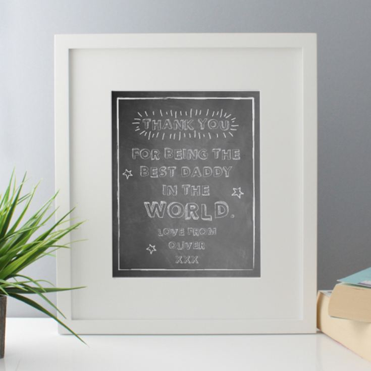 Personalised Best Daddy In The World Framed Print product image