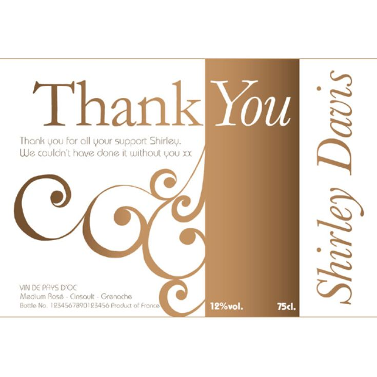 Personalised Thank You Wine product image