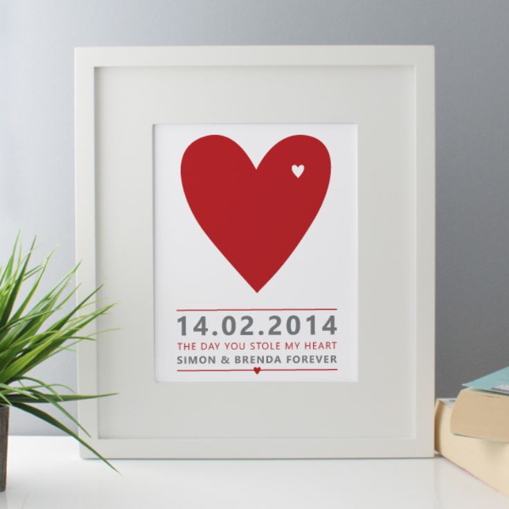 The Day You Stole My Heart Personalised Framed Print product image