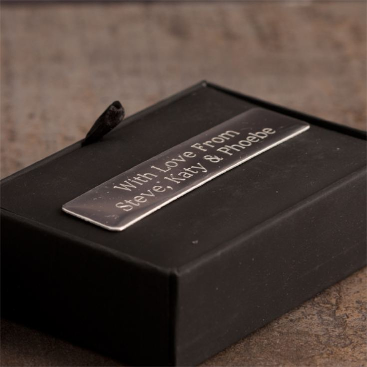 Tie Pin and Cufflink Set in Personalised Gift Box product image