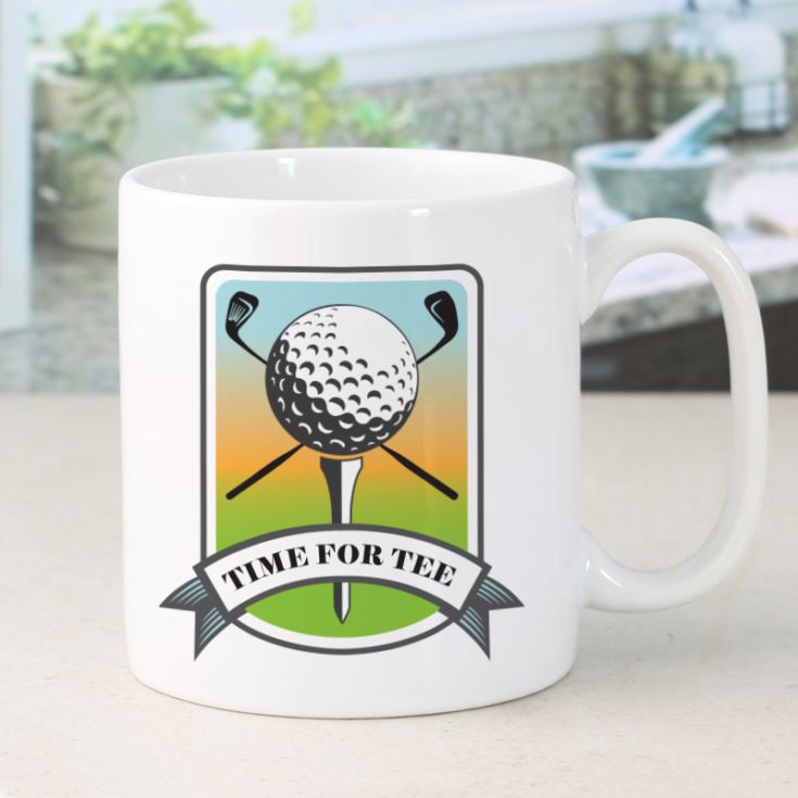 Personalised Time For Tee Golf Mug product image