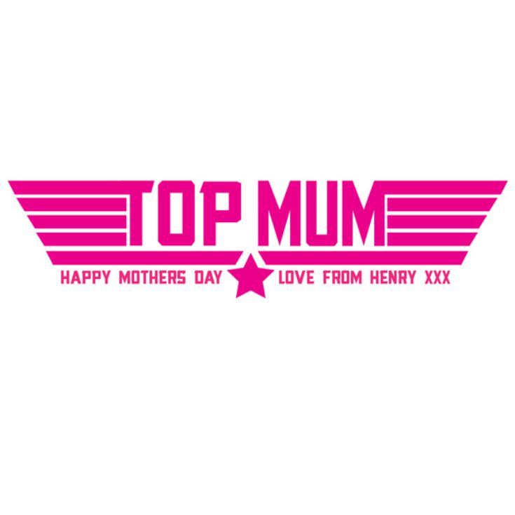 Top Mum Personalised T-Shirt product image