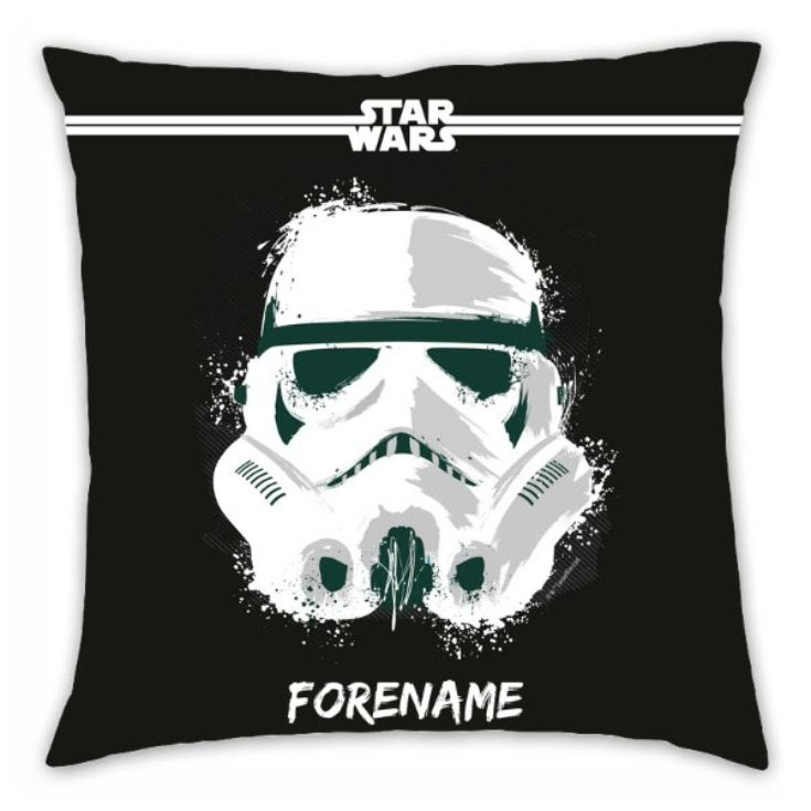 Personalised Star Wars Storm Trooper Paint Cushion product image