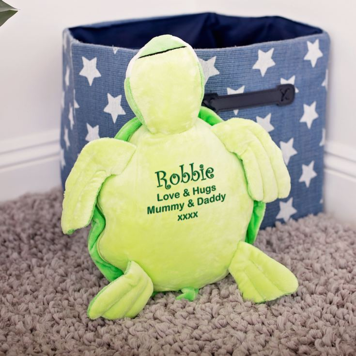 Personalised Embroidered Cuddly Green Turtle product image