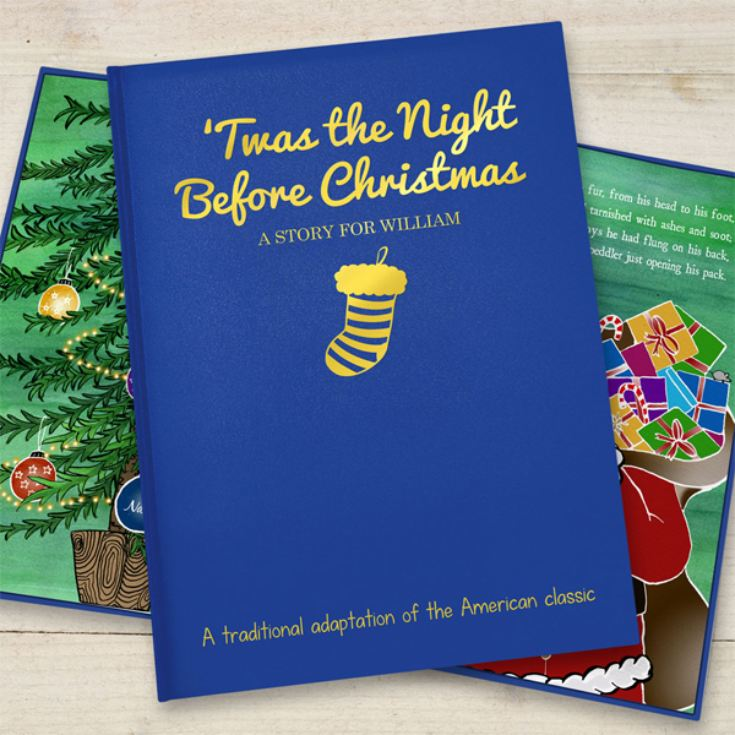 Personalised 'Twas the Night Before Christmas - Classic Hardback product image